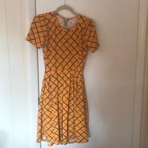 Yellow and gray LuLaRoe dress